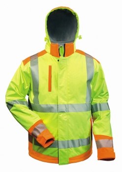 "Elysee Hi-Vis Winter-Warnschutz Softshelljacke gelb/orange ""Rickmer"""