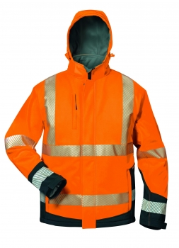 "Elysee Hi-Vis Winter-Warnschutz Softshelljacke orange/schwarz ""Lukas"""